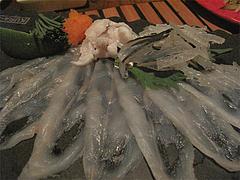 料理:玄海産天然とらふぐの刺身@ウォーターダイニング蔵音・博多駅東