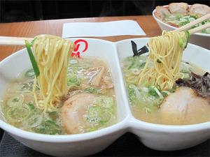 13食べ比べラーメン麺@赤のれん&とん吉
