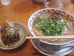 料理:らーめんセット580円@ラーメン本舗・博多葱一・天神
