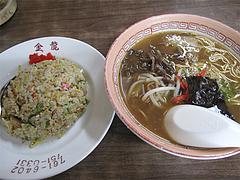 料理:ラーメンとミニ焼飯セット680円@金龍食堂・親富孝通り・天神