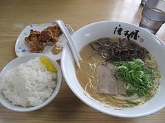 10ランチ:日替わり定食500円@博多ラーメン・唐木屋・堤店