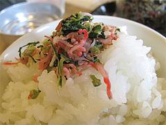 料理:ふりかけご飯@梅山鉄平食堂