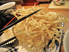 10ランチ:細切りごぼう天ぷら大きい@讃岐うどん薫(かおる)