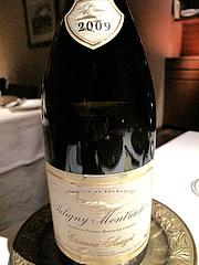 14Puligny-Montrachet Etienne Sauzet 2009 (ピュリニー・モンラッシェ ・エティエンヌ・ソゼ )@レザンドール・フレンチ・ワインバー・西中洲