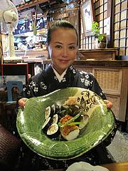 9料理:盛り合わせです@京寿司ランチ・祇園いづ重