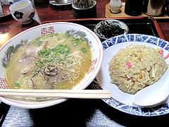 料理:ラーメン炒飯セット650円@はかたっ子・ラーメン・天神