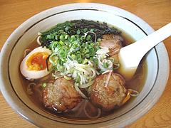 料理:つくねチャーシューらー麺620円@あごだし麺・五島軒