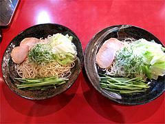 10料理:廣島つけ麺(冷)並780円+野菜大盛り200円@廣島つけ麺本舗ばくだん屋・中州店
