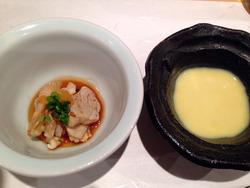 4名古屋河豚とカボチャのスープ@鮨の間・松山