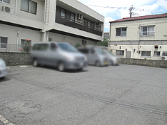 外観:専用駐車場@長浜ラーメン・名島亭