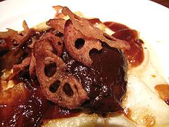 夜:イベリコ豚ほほ肉の赤ワイン煮込みアップ@イタリアン・トラットリア・ ウーノ(Trattoria-Uno)