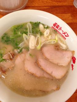 9ラーメン+チャーシュー150円@長浜ラーメン・じろう