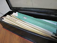店内:割り箸とエコ箸(洗い箸)@国際飯店・長浜