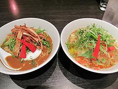 料理:渡辺通りカレー坦麺&野菜胡麻坦麺@博多屋・渡辺通