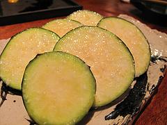 9鶏料理:水茄子の塩麹漬け@焼鳥・sumiyaki燈(炭焼きあかり)・丸太町・京都