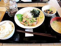 料理:極上胡麻アジ定食980円@梅山鉄平食堂