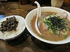 14ランチ:ラーメン580円+辛し高菜どん100円@魚介醤油豚骨・ラーメン・いっき