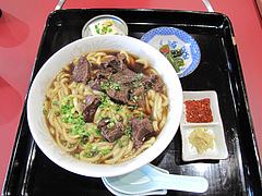 料理:小倉名物肉うどん680円@白頭山・福岡店