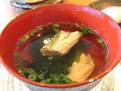 回転寿司『市場ずし魚辰』吸い物315円@福岡・長浜・市場会館