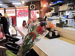 店内:カウンター席@拉麺空海・雑餉隈駅前店