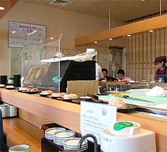 回転寿司『市場ずし魚辰』店内@福岡・長浜・市場会館