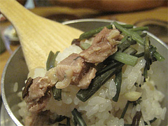 料理14:地鶏の釜めし1@串焼き・釜飯の俵・久留米