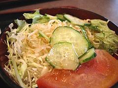 18ランチ:出来立てカレーライス・サラダ@益正食堂・麦野店・居酒屋