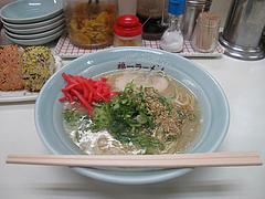 9ランチ:ラーメン500円・紅しょうが@昭和福一ラーメン博多駅前店・祇園