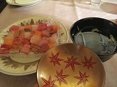 22押し寿司とお吸い物@女子会