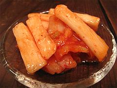 料理:長芋とキムチ@ポコペンのペコポン・三角市場・福岡