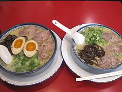 ランチ:ラーメン500円と煮玉子ラーメン590円@博多ラーメンしばらく西新店