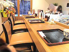 3店内:カウンター席のみ@讃岐うどん薫(かおる)