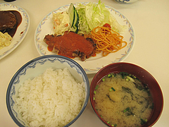 13ランチ:豚ロースステーキ・トマトソース@定食の味作食堂