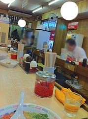 店内:カウンター席@博多ラーメン・はかた・堅粕店