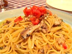 イワシのスパゲティ@イタリア料理カピート