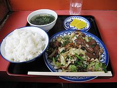 ランチ:ニラレバ定食600円@小笹飯店