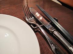 店内:お箸とカトラリー@ビストロ・アンココット・住吉