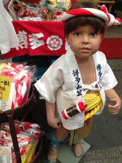 18子供山笠衣装@ヘアレンジャー・川端商店街