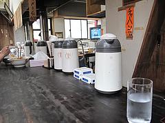 3店内:カウンター席のみ@ラーメン・のんき屋・高砂
