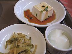 11ランチ:台湾ラーメンセットの小鉢・デザート@点心楼・台北・平尾