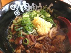 5肉肉うどん580円@肉肉うどん・薬院