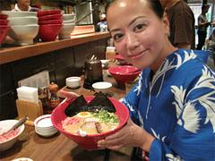 料理:本店かさね味と記念写真その1@博多一風堂大名本店