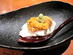 料理:豆腐とウニ@柳町一刻堂