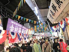 博多の台所・柳橋連合市場の通り@うまかもん祭り・柳橋連合市場