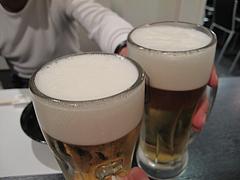5居酒屋:生ビール@博多ふぐづくし・英ニ楼