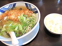 料理:パイコー麺+ライス700円@ちゃん(CHANG)・中華・野間