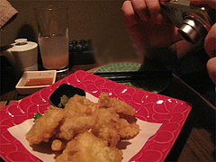 料理:大分名物とりてん(とり天)@ウォーターダイニング蔵音・博多駅東