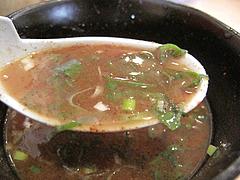 料理:つけ麺スープ割り2@一龍・小倉駅前