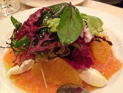 3海マスのスモークとオレンジのサラダ@ル・ミストラル