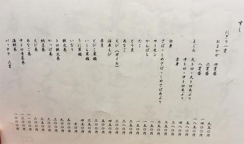 16メニュー寿司